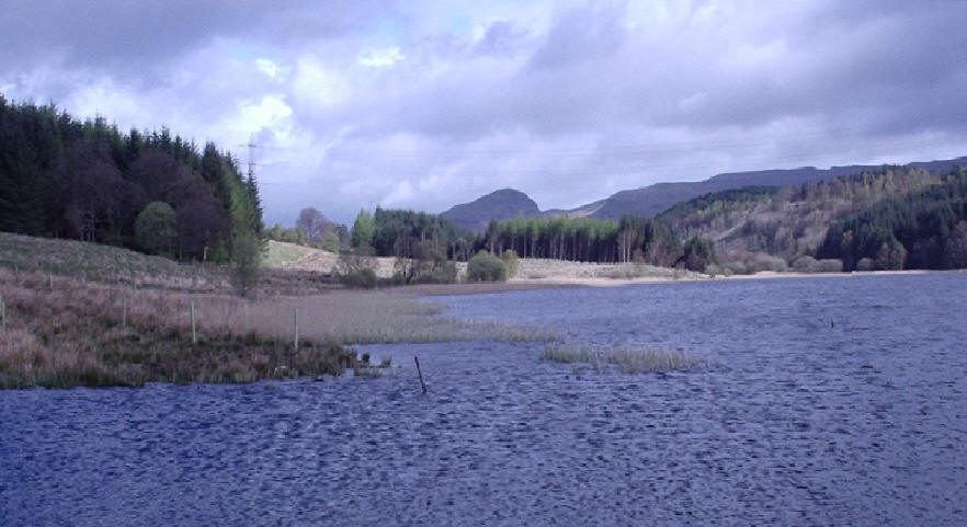 Craigallian Loch with Dumgoyne in the distance